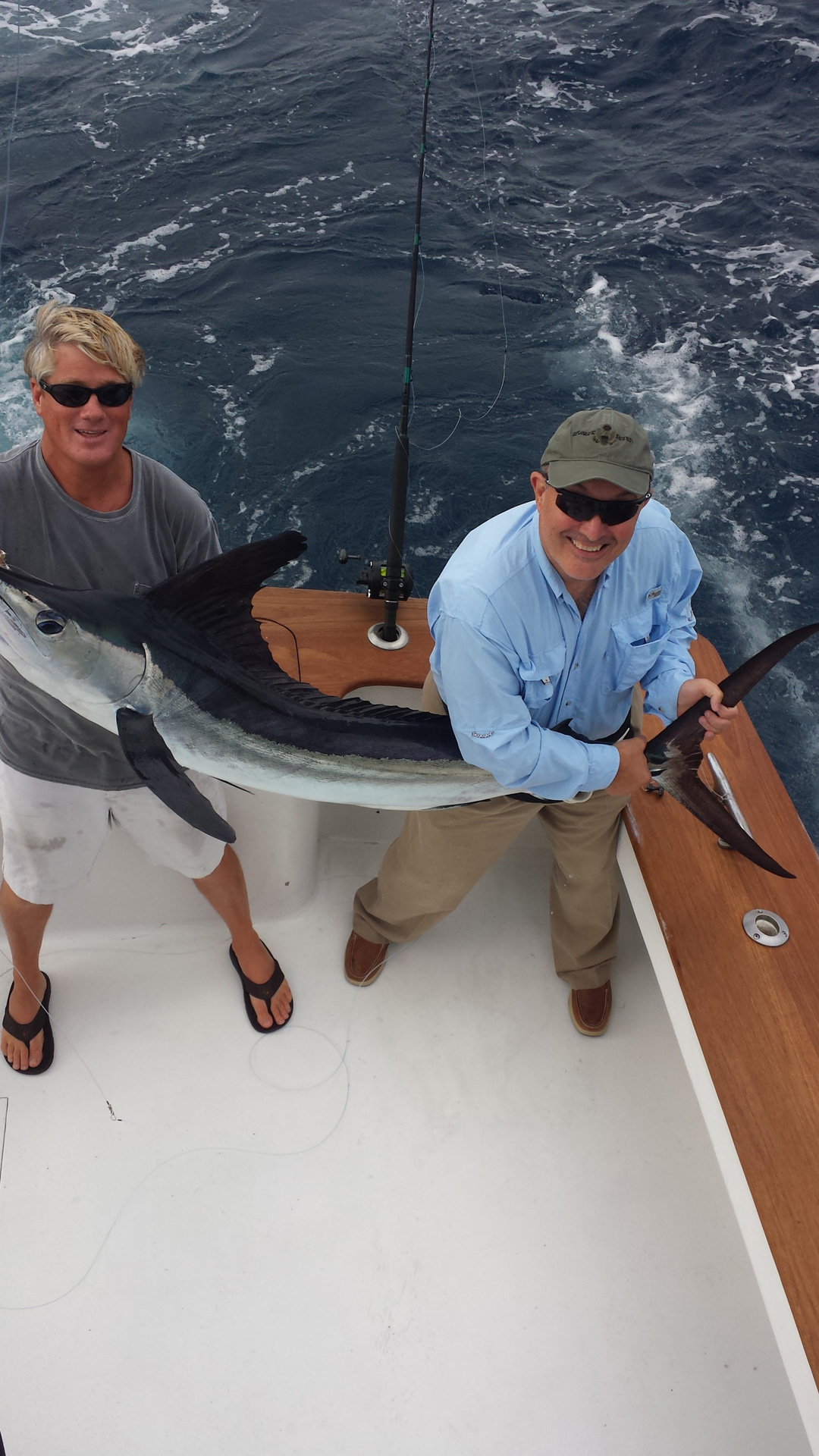 Great say with 3 white marlin and 47 dolphin. Jack and his crew had a beautiful day.